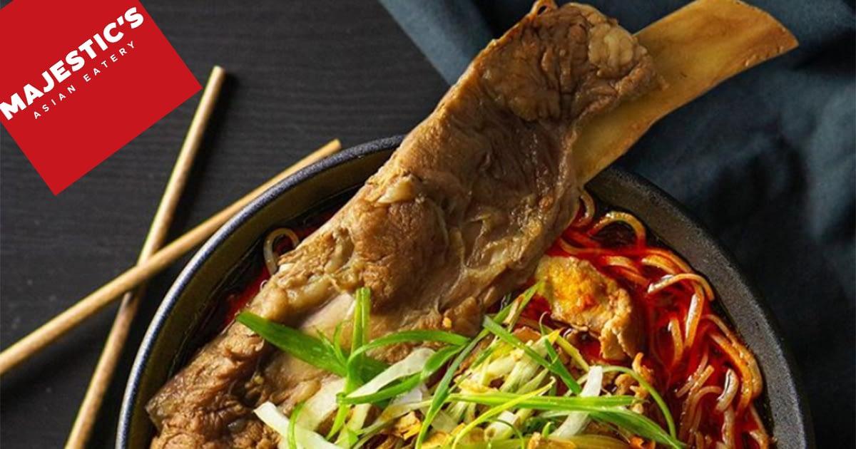 Big bone Asian pho soup