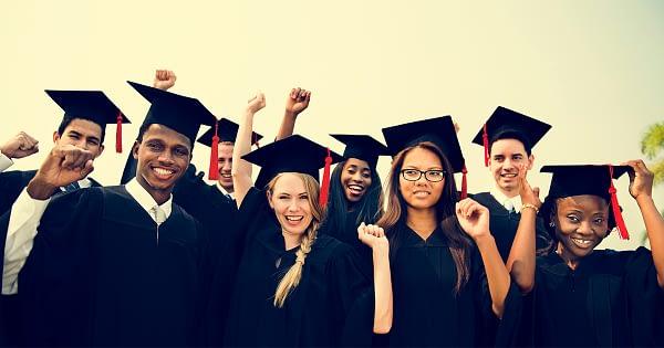 students graduating from highschool